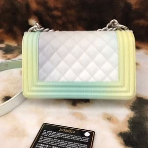 2dd3bcb8f3138f CHANEL Bags   Sold Rainbow Printed Caviar Small   Poshmark